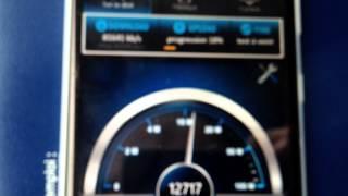Test débit  4G sosh avec le Nokia Lumia 625