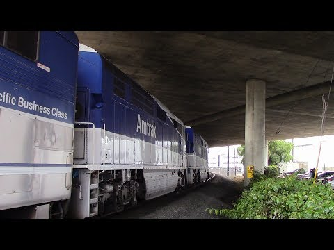 Amtraks, Coasters, and BNSF action around San Diego on 9/21/16 & 12/19/16