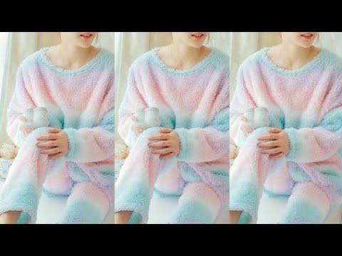 Winter special velvet pyjamas // Cute Pyjamas for girls // #velvet #sleepwear