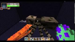 Minecraft Mob Battle:Mothra Larva vs Spiderzilla!