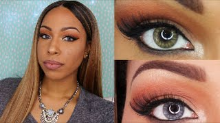 Desio Contact Lenses Review & Try on | Smoky Grey & Caramel Brown (Please read the description box)