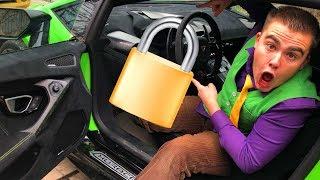 13+ Red Man locked Steering Wheel of Car on LOCK VS Mr. Joe on Lamborghini Huracan found Key