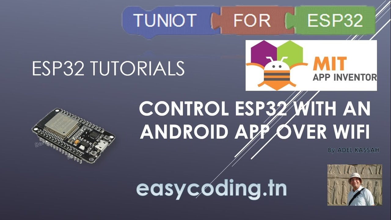 ESP32 tutorial 15: Control your ESP32 with an Android App