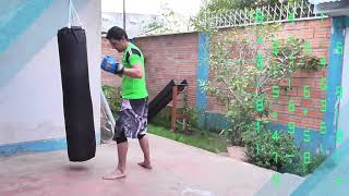 Combinacion de Kick Boxing en el saco - Combinación de 4 golpes en costal - Muay thai