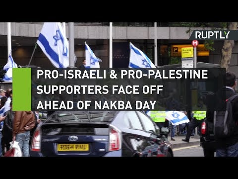 Pro-Israeli and Pro-Palestine supporters face off ahead of tomorrow's Nakba Day