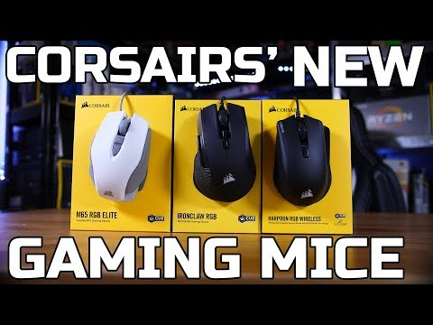 New Corsair Mice Review – Ironclaw RGB, Harpoon Wireless