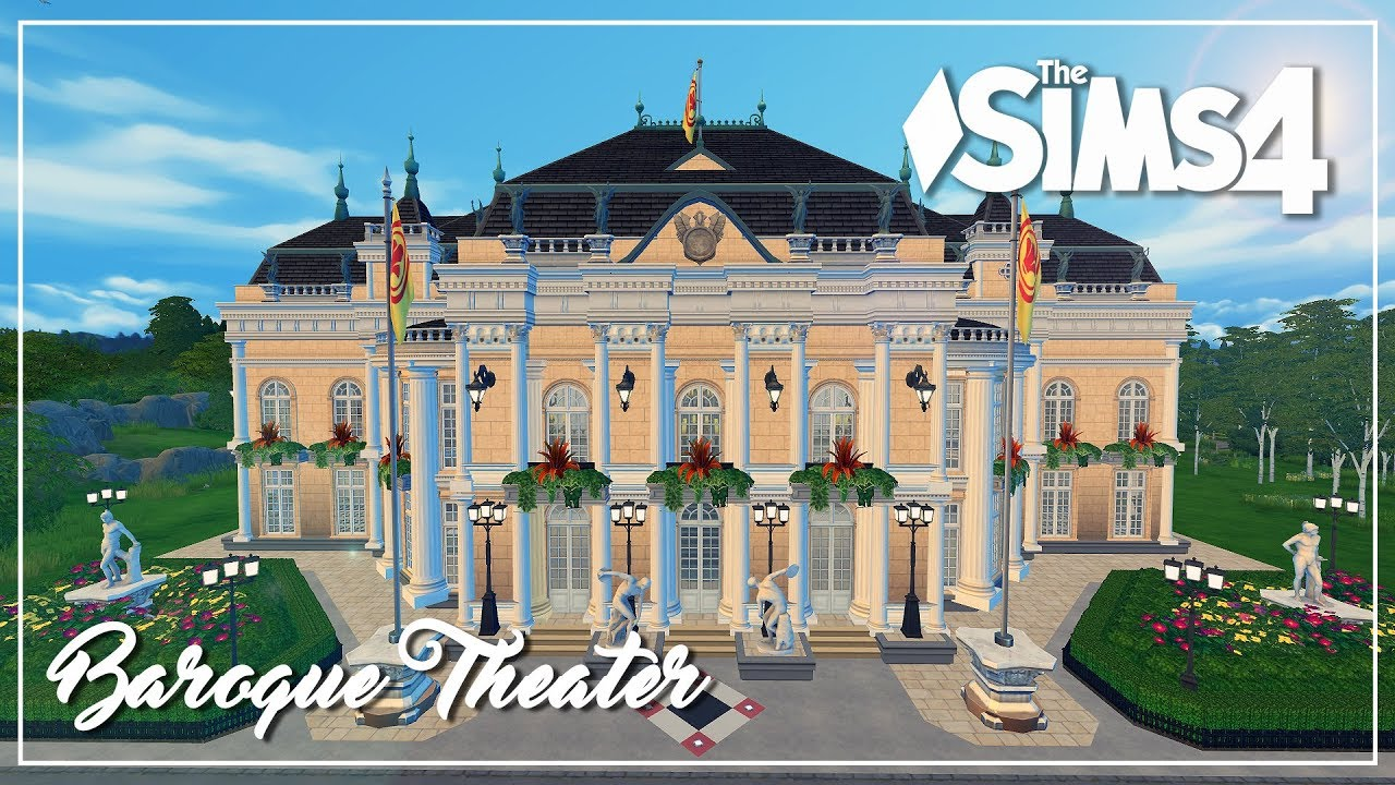 The Sims 4 Speed Build Baroque Theater Youtube