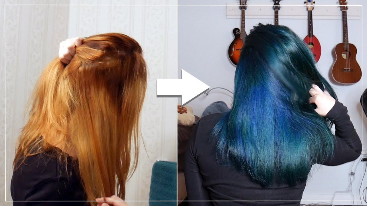 Fixing Unevenly Bleached Hair Dying It Blue Youtube