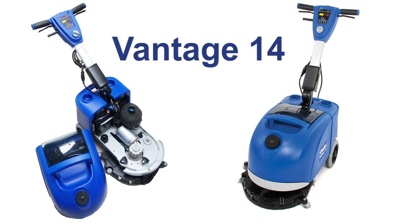 Vantage 14 Small Area Floor Scrubber Youtube