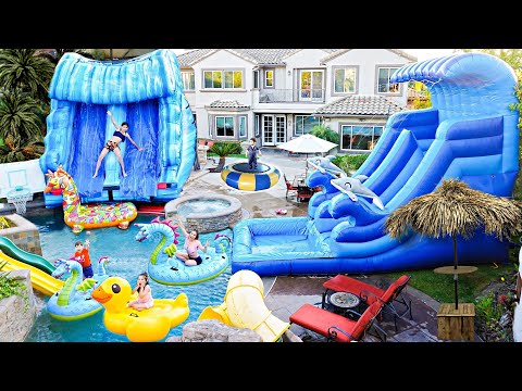 we-built-a-giant-waterpark-in-our-backyard-**crazy-fun**