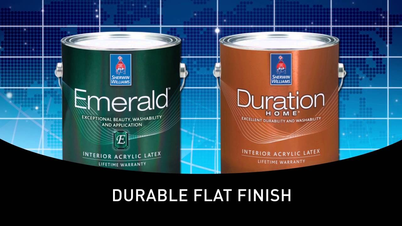Emerald Interior Duration Home Cleanable Flat Sherwin Williams You