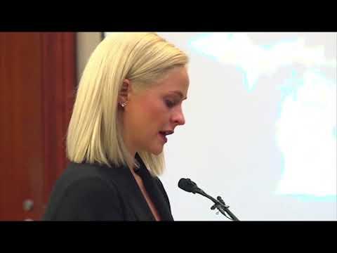Olivia Cowan slams Michigan State and USA gymnastics at Nassar sentencing