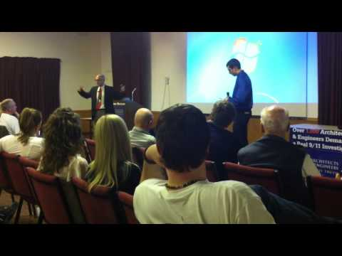 Richard Gage Questioned at AE911Truth Presentation (4/12/2011) by Abraham Hafiz Rodriguez (Part 1/2)
