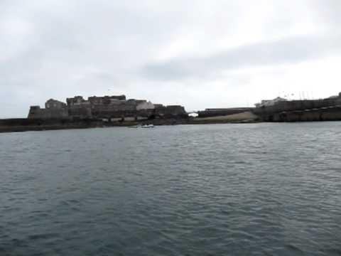 On the tender leaving St. Peter Port, Guernsey, passing Castle Cornet