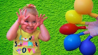Learn Colors with Balloons  Finger Family Song and Nursery Rhymes for Kids Babies