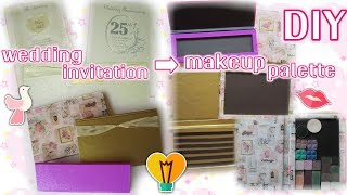 DIY Makeup Palette from Wedding Invitation Card/Cardboard | in Bahasa Indonesia♡English subtitle