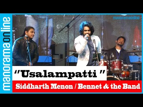 Siddharth Menon, Bennet & the Band sing Usalampatti Penkutti | Manorama Online Events