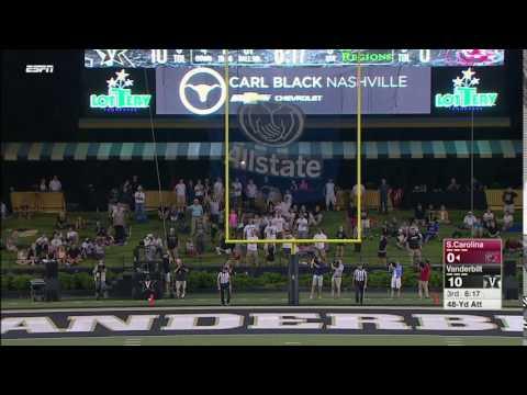 Elliott Fry 48-Yard FG at Vanderbilt — 9/1/16