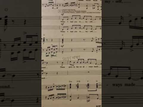 SOPRANO PART I Want You BackABC  The Jackson 5 and arranged  Mark Brymer