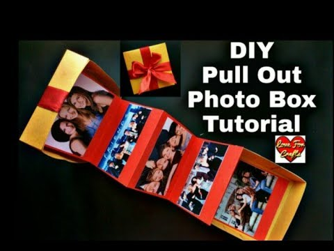 DIY - Pull Out Photo Box | Gift Idea For Friend (Requested Video)