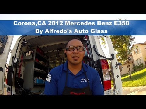Safe Windshield Replacement On Mercedes Benz E350