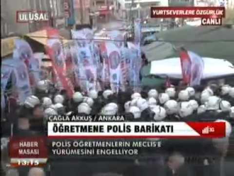 EĞİTİM İŞ ÜYELERİ ANKARA'DA TORBA YASAYI PROTESTO EDİYOR-2