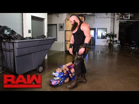 Thumbnail: Braun Strowman lays waste to Team Red Superstars: Raw, April 17, 2017