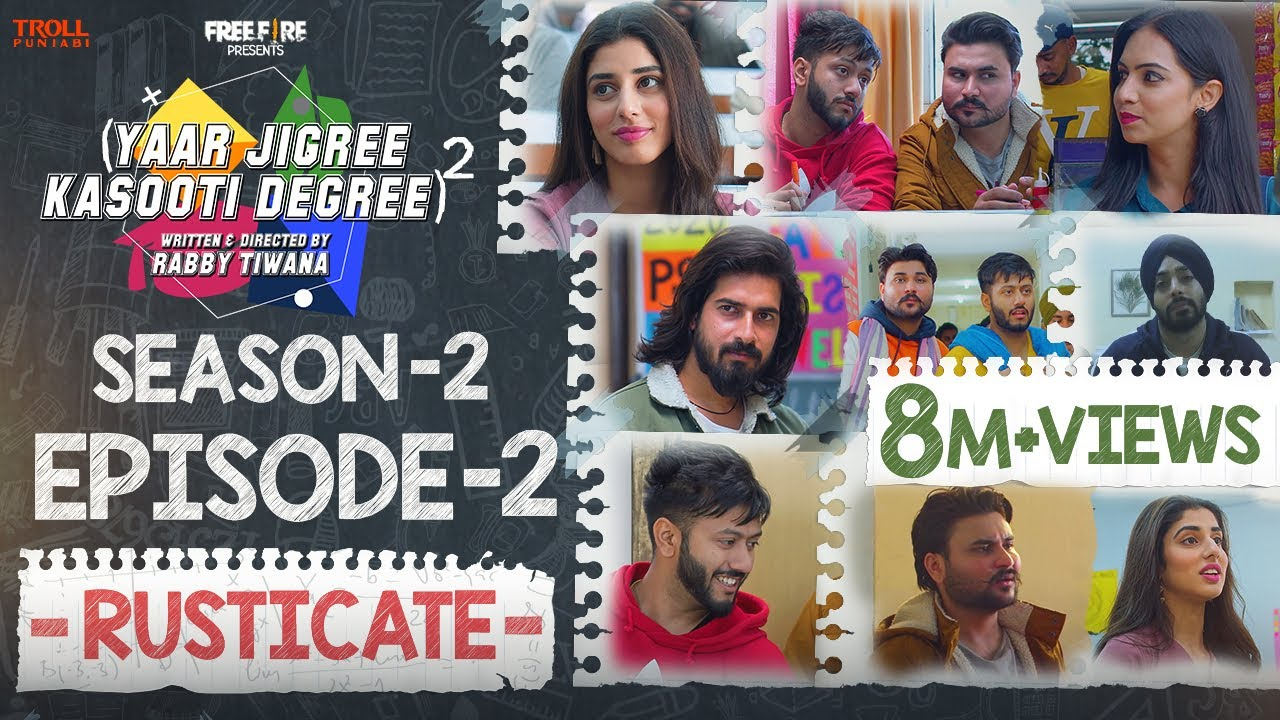 Download Yaar Jigree Kasooti Degree Season 2 | Episode 2 ‐ RUSTICATE | Latest Punjabi Web Series 2020