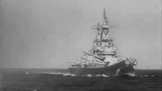 Battleship USS Iowa (BB-61) in Shakedown Tests - February 1943
