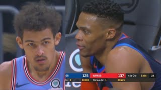 Trae Young Makes Russell Westbrook Angry After Destroying The Thunder With Hawks!