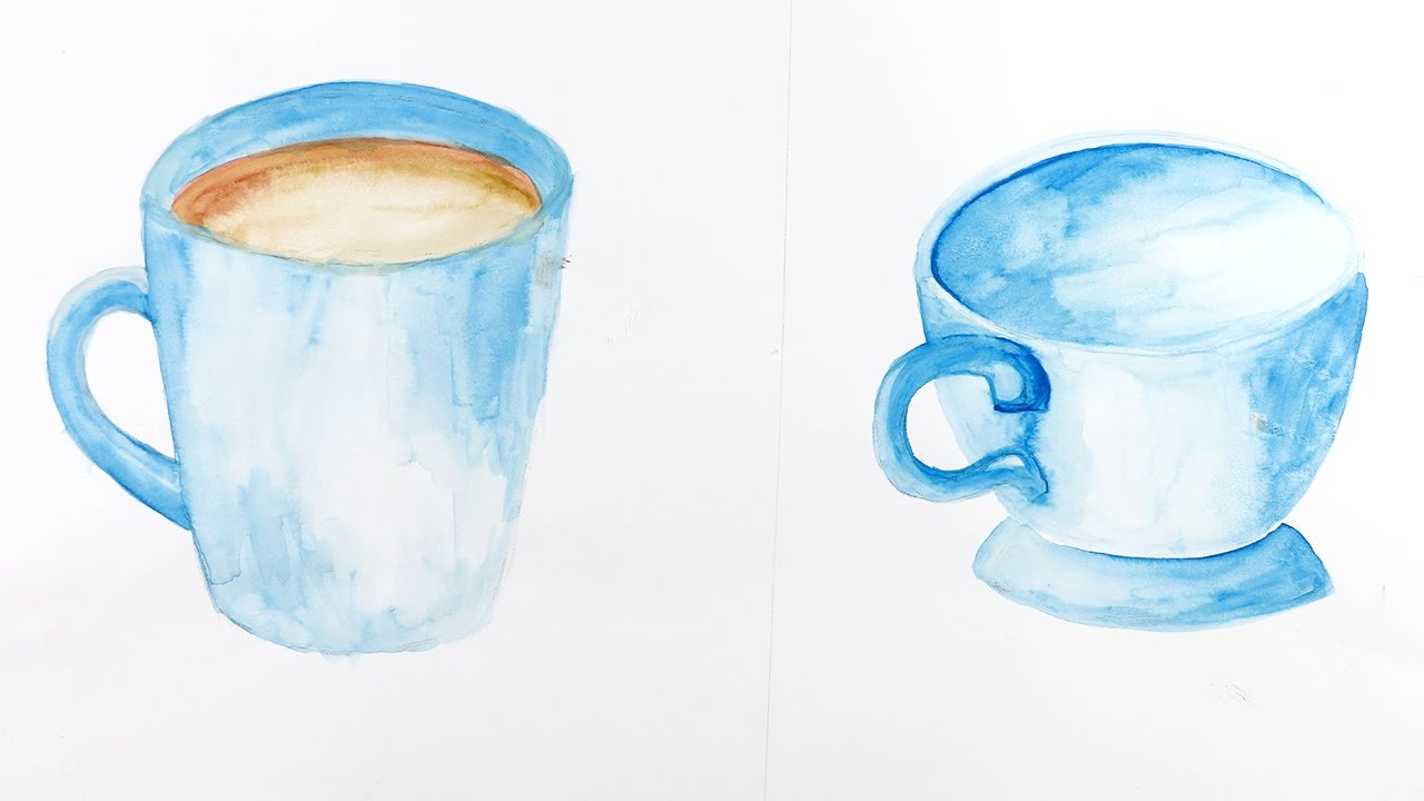 Watercolor Painting How To Make Mug Cup