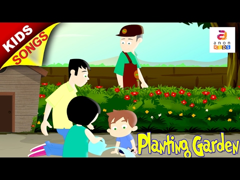 Planting the garden English Song | Song for Kids | Animated Rhymes ...