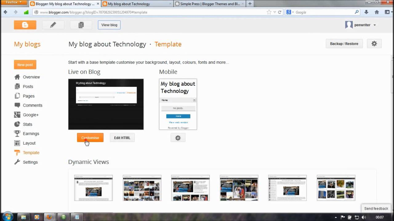 blogger tutorials for beginners how to add new template in blogger