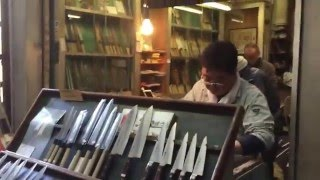 Knife Shops - TSUKIJI Biggest Fish Market in The world, Japan 3