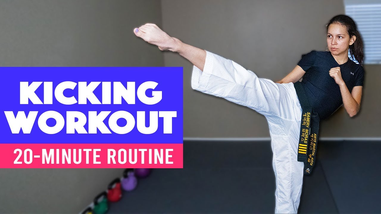 20-min Kicking Combination At-Home Workout | Taekwondo Follow-Along Routine