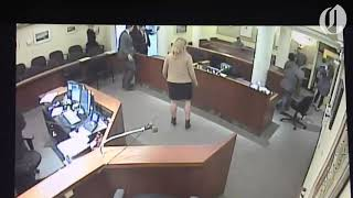 Angry mom punches ex, then deputy, in courtroom