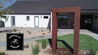 How to Build a Rain Curtain Water Feature