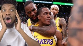 RONDO GETS HIS REVENGE!! LAKERS vs CELTICS HIGHLIGHTS