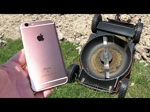 Thumbnail: iPhone 6s Upside Down Lawn Mower Scratch Test! - GizmoSlip