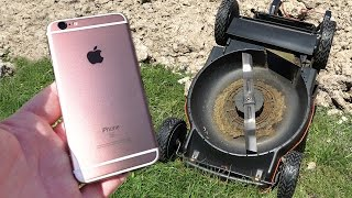 iPhone 6s Upside Down Lawn Mower Scratch Test! - GizmoSlip