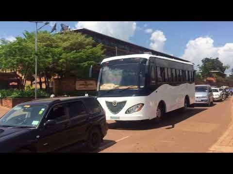 Kayoola Solar Bus in Traffic