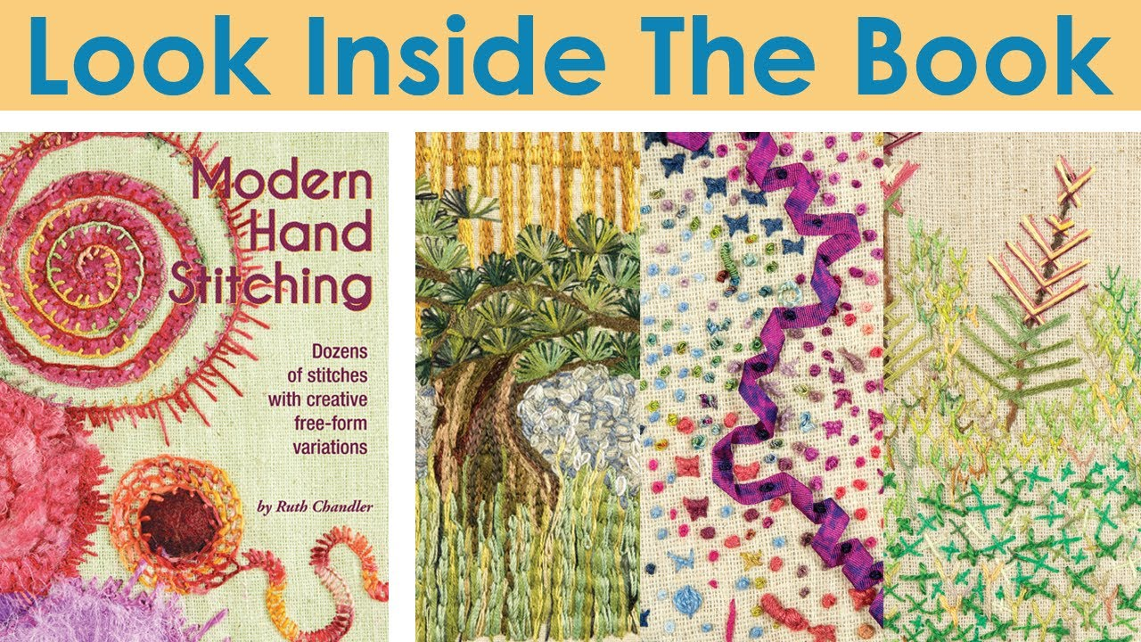 Look inside the book modern hand stitching youtube