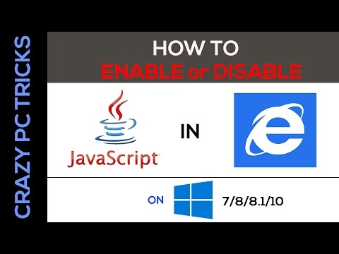 How To Enable Java Script In Internet Explorer On Windows 7/8/8.1/10