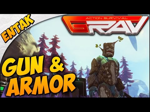 GRAV Gameplay ➤ SURVIVAL GUIDE - Crafting A Gun, Full Armor, & Starting A Base [Part 3]
