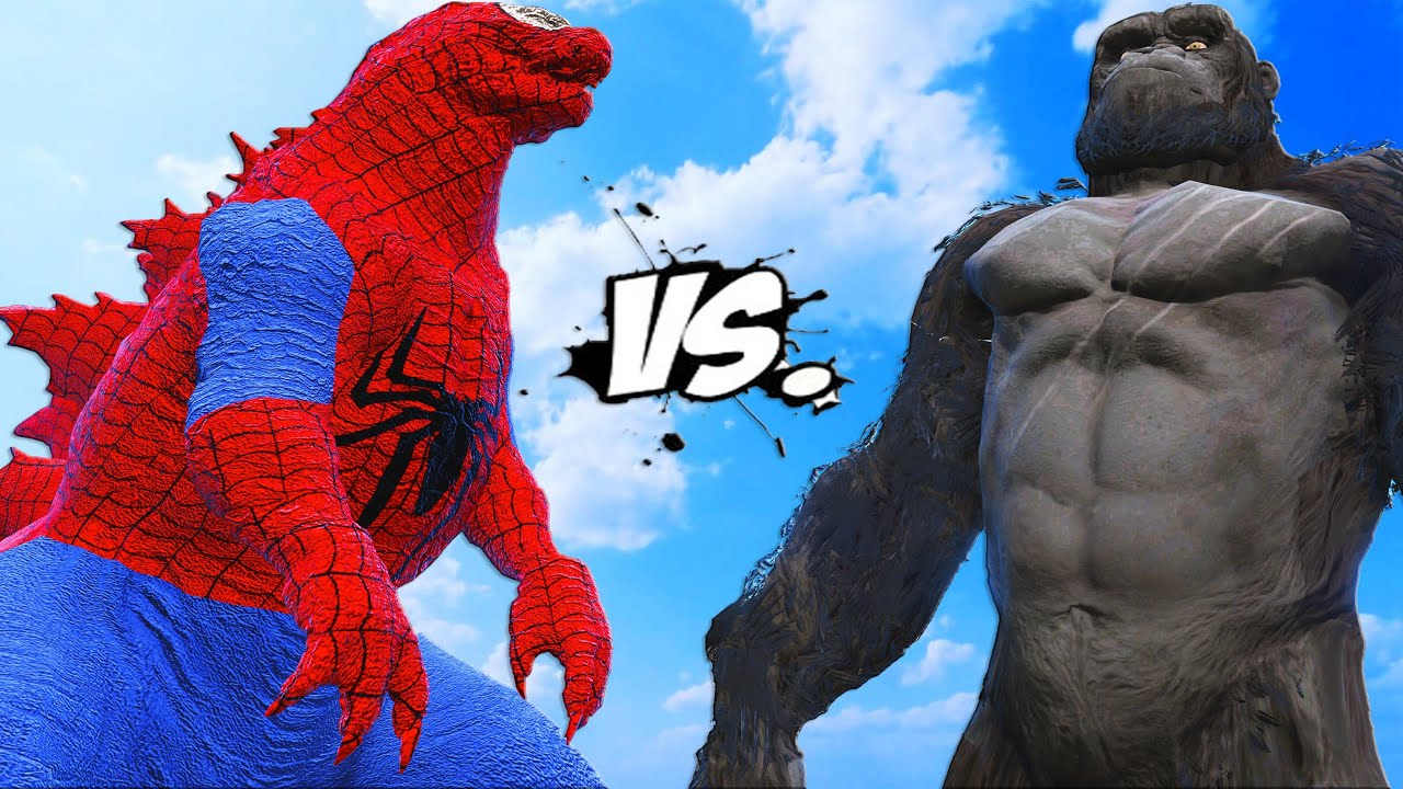 SPIDER GODZILLA VS KING KONG - MONSTER BATTLE