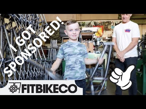"I got sponsored by Fit Bike! - Custom 14"" Bike Build at the S&M Factory!"