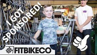 "I got sponsored by Fit Bike! - Custom 14"" Bike Build at the S&M Factory!"