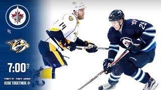 NHL 18 PS4. REGULAR SEASON 2017-2018: Nashville PREDATORS VS Winnipeg JETS. 02.27.2018. (NBCSN) !