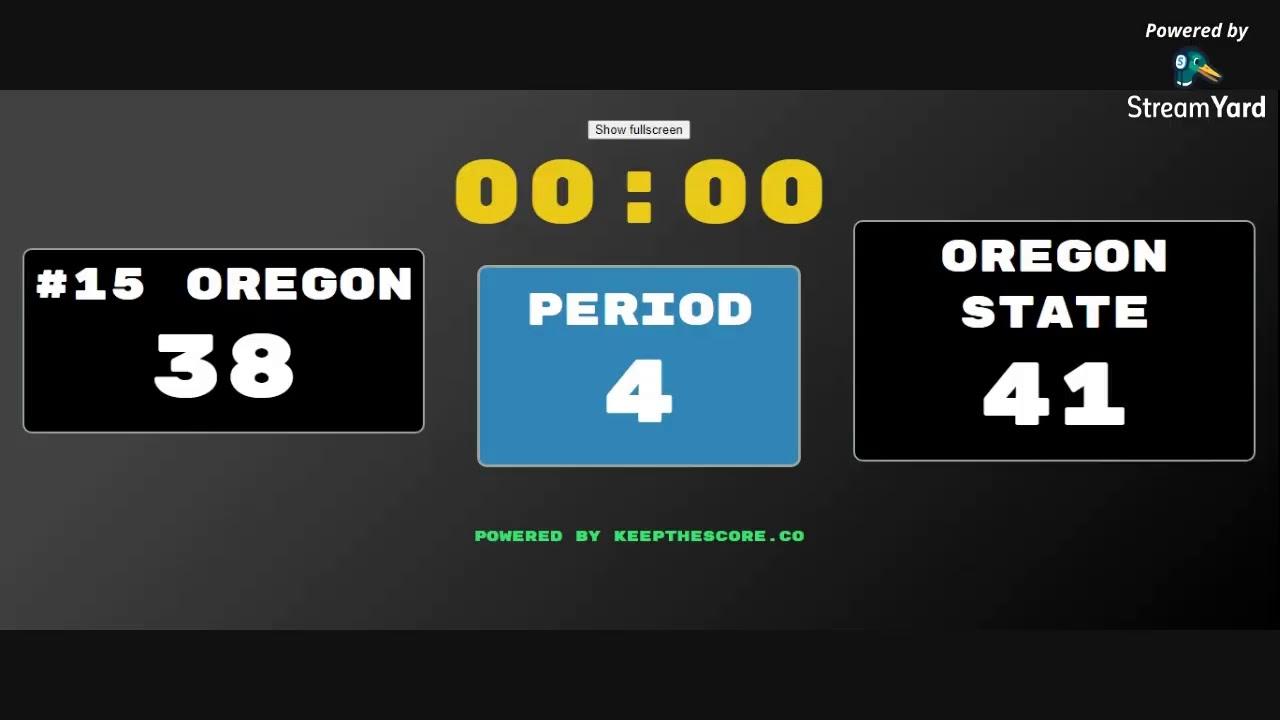 Live Updates: No 15 Oregon - Oregon State