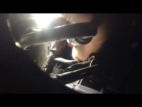 BMW E60 radiator outlet temp sensor replacement